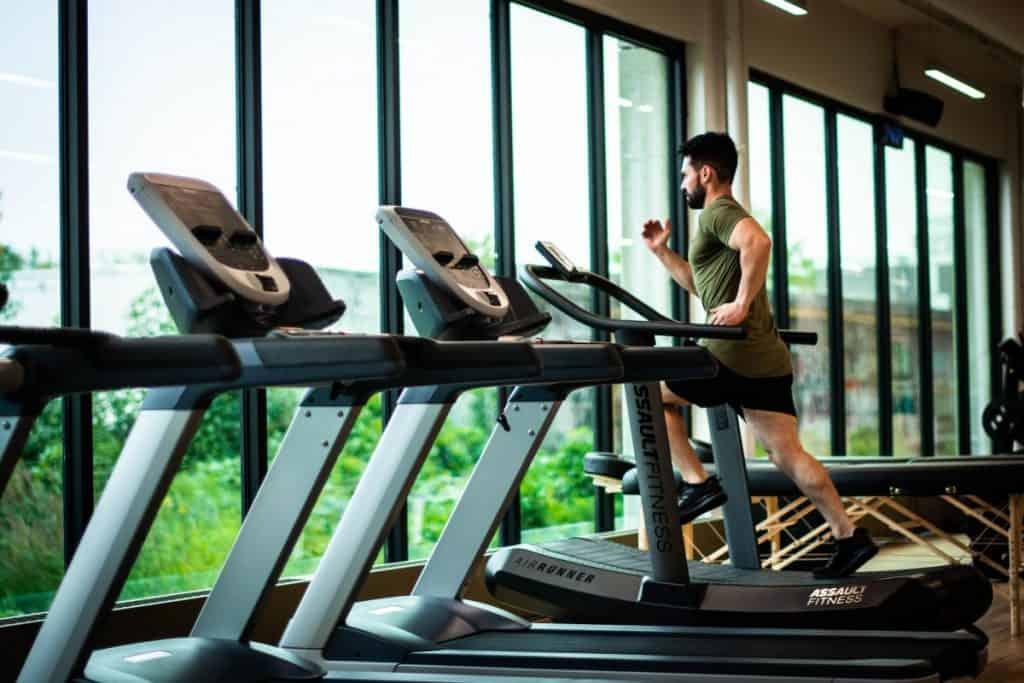 space between treadmills