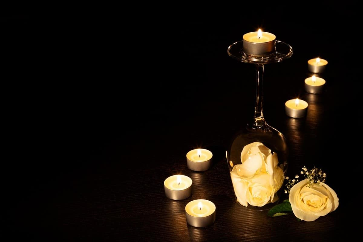 Candles for yoga studio