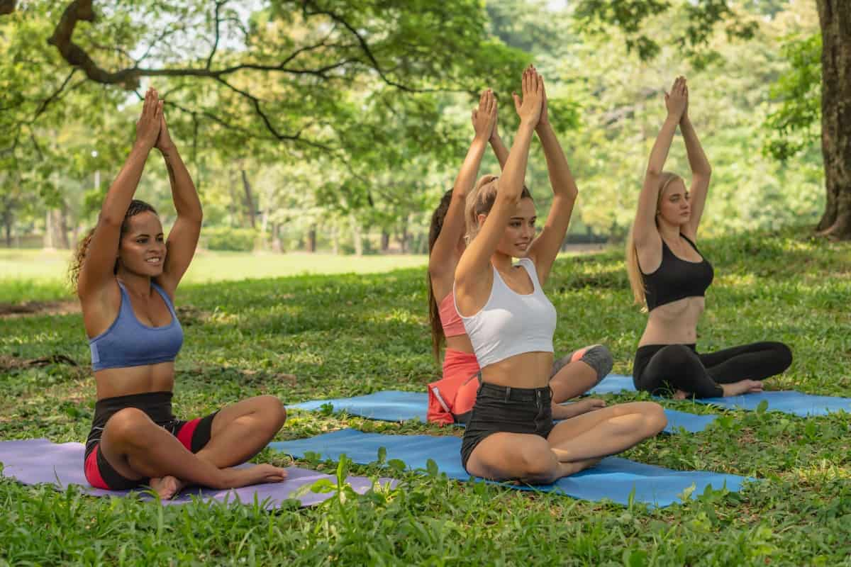 Teach yoga outdoors